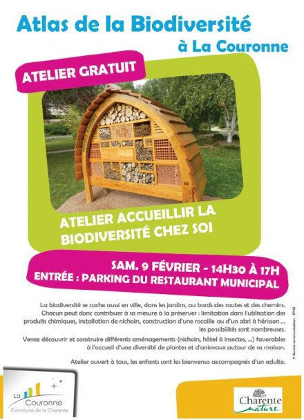 atelier accueillir la biodiversit chez soi charente nature. Black Bedroom Furniture Sets. Home Design Ideas